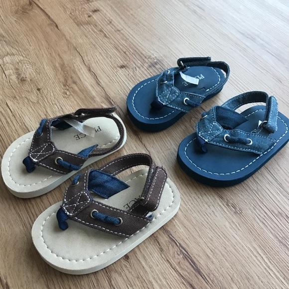 Children's Place Other - Boys sandals Blue never worn, Brown worn twice